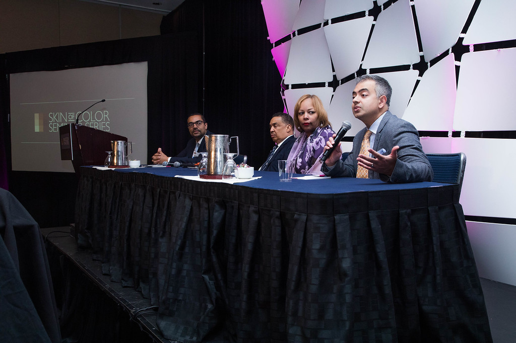 Panel discussion at dermatology conference
