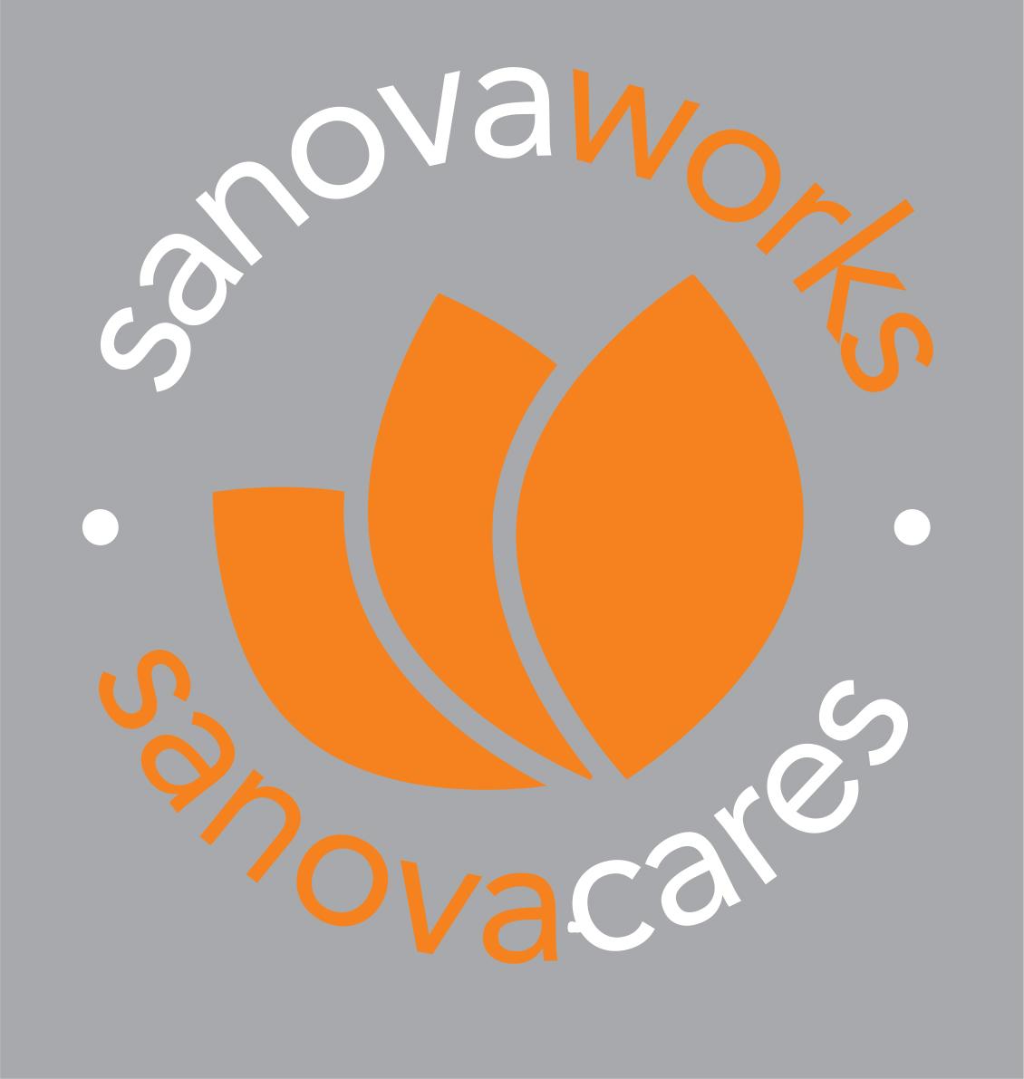 Sanovaworks Cares logo