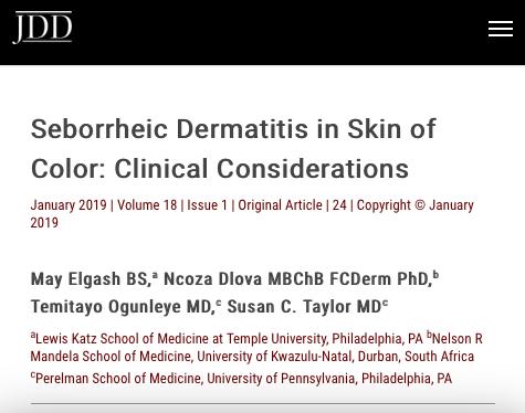 Seborrheic Dermatitis in Skin of Color